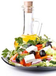Gyros görög salátával a folyton fogyókúrázó Zsuzska barátnőm ajánlásával