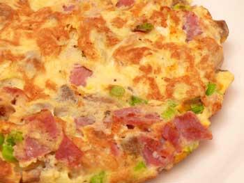 Fogyókúrás sonkás omlett